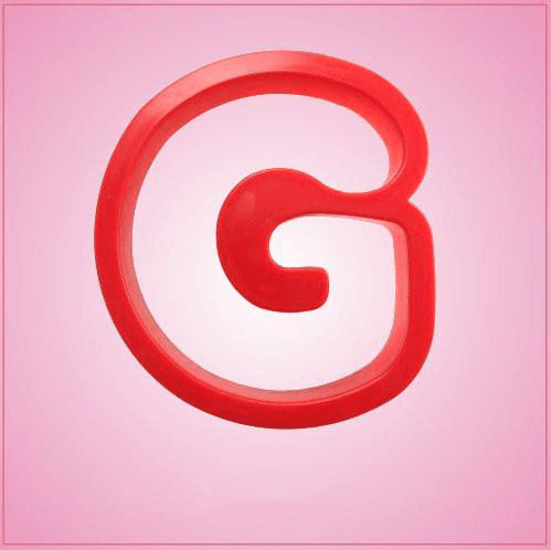 Red Letter G Cookie Cutter