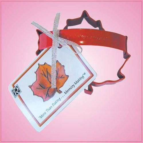 Red Maple Leaf Cookie Cutter With Handle