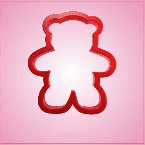 Red Teddy Bear Cookie Cutter