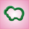 Small Green Pig Cookie Cutter