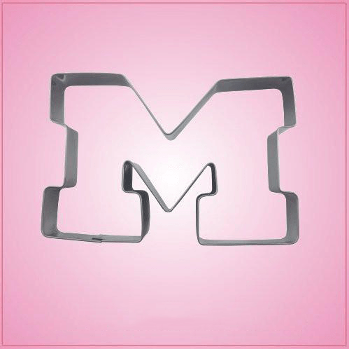Stainless Steel Varsity Letter M Cookie Cutter