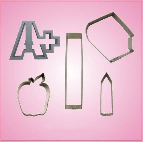 Teacher Cookie Cutter Set