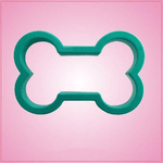 Teal Dog Bone Cookie Cutter