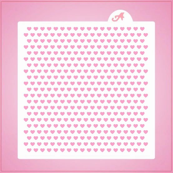 Teeny Hearts Pattern Stencil