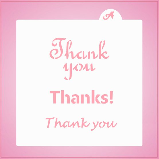 Thank You Bundle Stencil