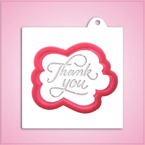 Thank You Cookie Cutter With Stencil