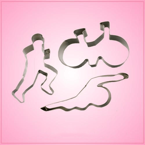 Triathlon Cookie Cutter Set