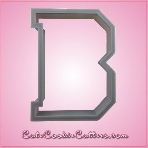 Varsity Letter B Cookie Cutter