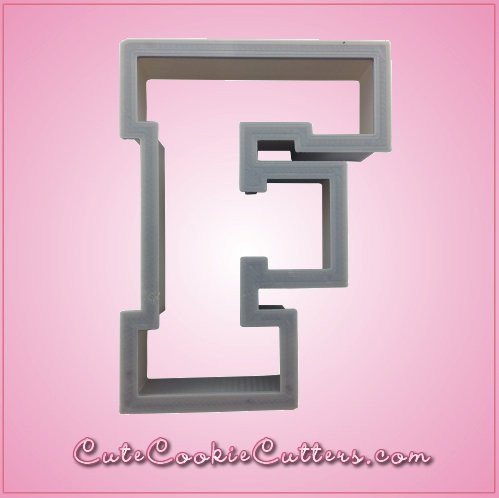 Varsity Letter F Cookie Cutter