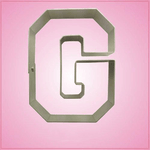 Varsity Letter G Cookie Cutter