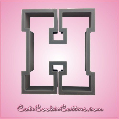 Varsity Letter H Cookie Cutter