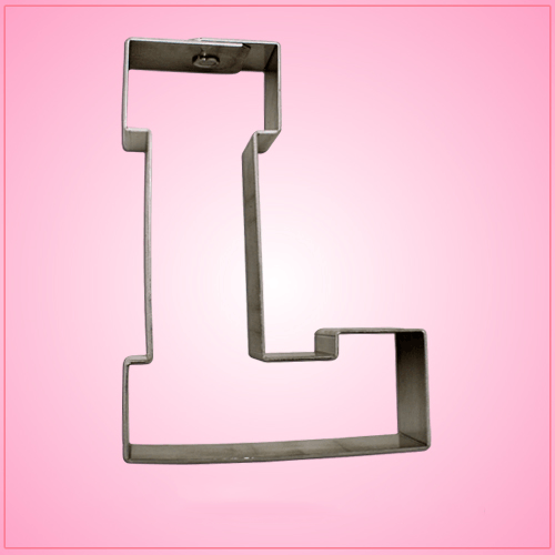 Varsity Letter L Cookie Cutter