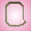 Varsity Letter Q Cookie Cutter