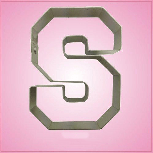 Varsity Letter S Cookie Cutter