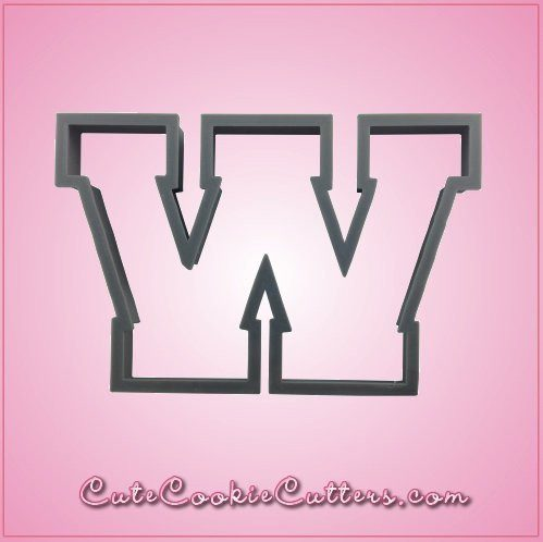 Varsity Letter W Cookie Cutter
