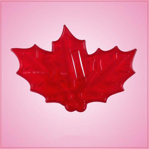 Vintage Style Holly Leaves Cookie Cutter