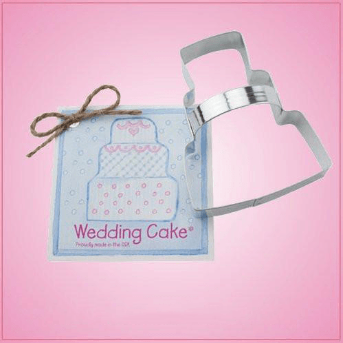 Wedding Cake Cookie Cutter with Handle