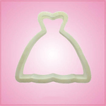 White Wedding Dress Cookie Cutter