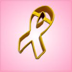 Yellow Awareness Ribbon Cookie Cutter