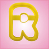 Yellow Letter R Cookie Cutter