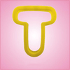 Yellow Letter T Cookie Cutter