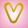 Yellow Letter V Cookie Cutter