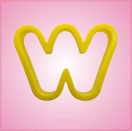 Yellow Letter W Cookie Cutter