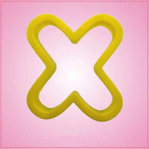 Yellow Letter X Cookie Cutter