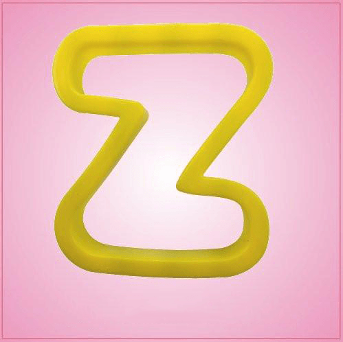 Yellow Letter Z Cookie Cutter
