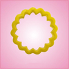 Yellow Round Scalloped Cookie Cutter