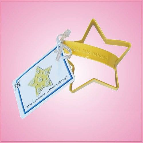 Yellow Star Cookie Cutter With Handle