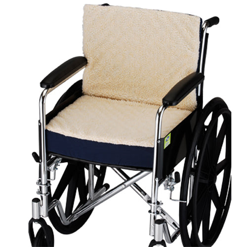 Convoluted Seat/Back Wheelchair Cushion with Fleece Cover