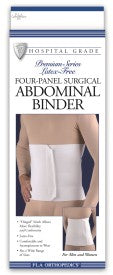 ABDOMINAL BINDER FOUR PANEL 12IN WHITE