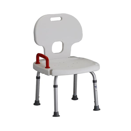 Bath Chair with Back and Red Safety Handle