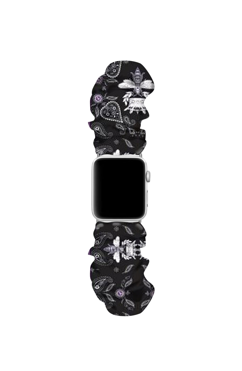 QUEEN BEE BLACK APPLE WATCH SCRUNCHIE