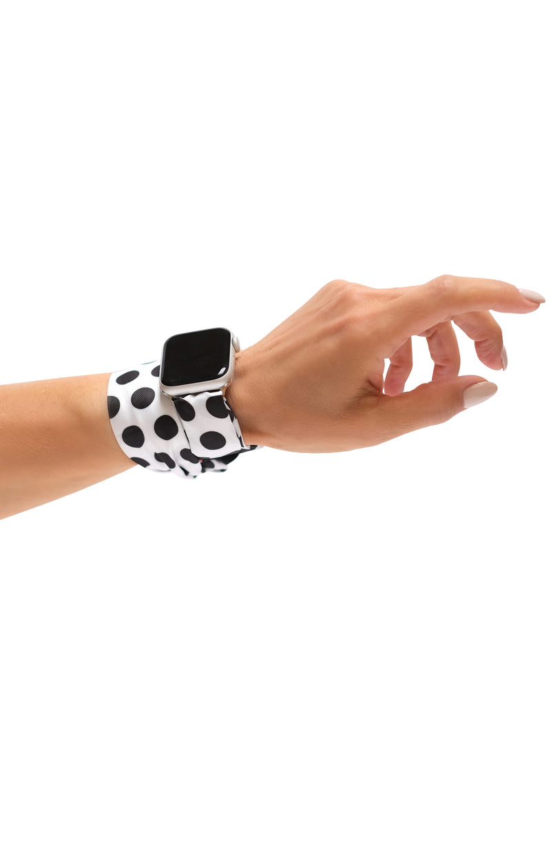 BOMBSHELL WHITE APPLE WATCH BAND (CONNECTORS INCLUDED)