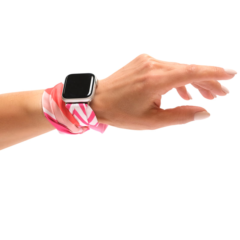 PINK BLOSSOM APPLE WATCH BAND (CONNECTORS INCLUDED)