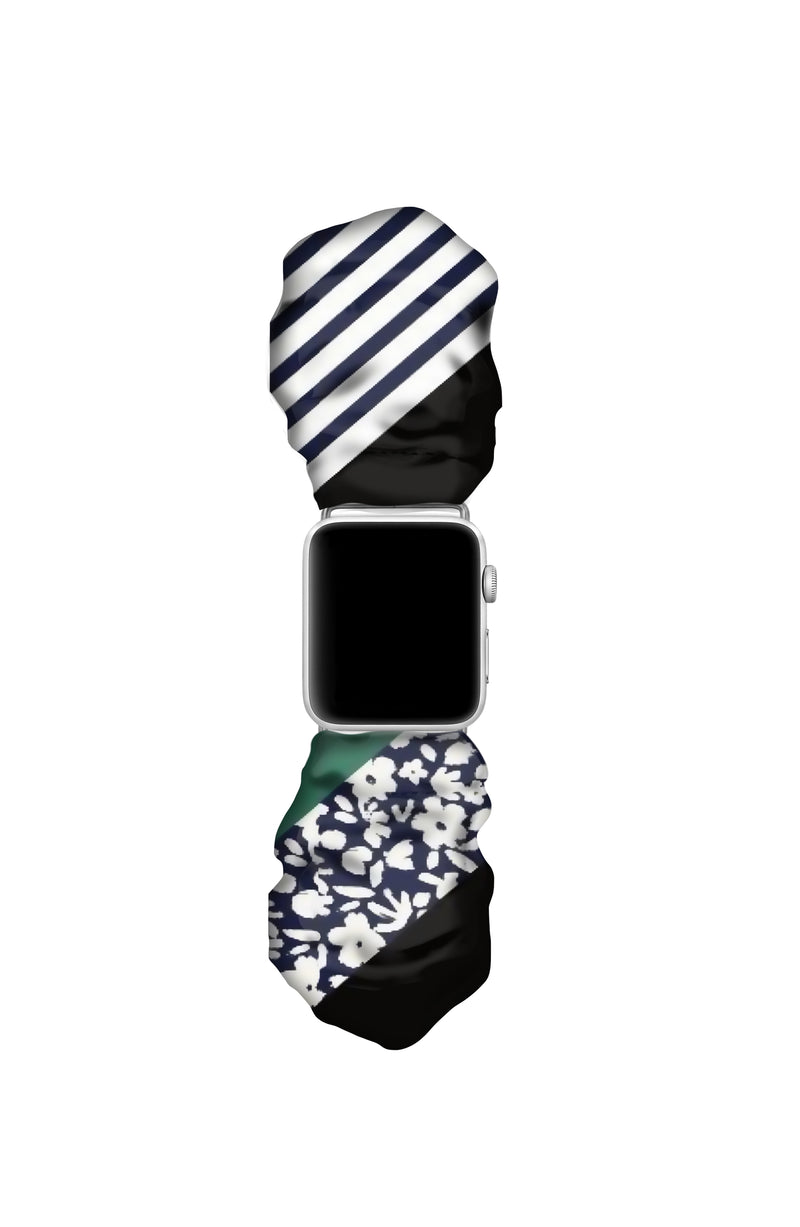 JUMBO BLACK BLOSSOM APPLE WATCH SCRUNCHIE