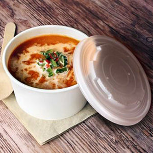 50x White, Compostable Soup & Chip Bowls