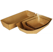 Load image into Gallery viewer, 50x Natural Kraft Food Tray
