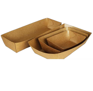 50x Natural Kraft Food Tray