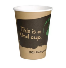 Load image into Gallery viewer, 50x Compostable Coffee Cups