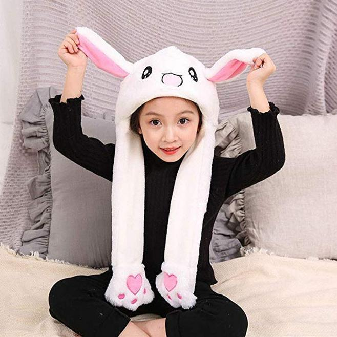 FASHION SHAKING HEAD RABBIT EARS PLUSH SWEET CUTE ANIMAL AIRBAG CAP WINTER WARM RABBIT RABBIT EARMUFFS BEANS BEANS GLOVES TURBAN TOYS