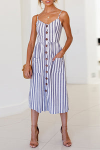 Making Changes Coastal Blue Stripe Dress