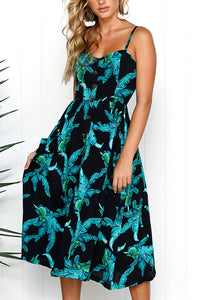 A Different View Tropical Print Maxi Dress