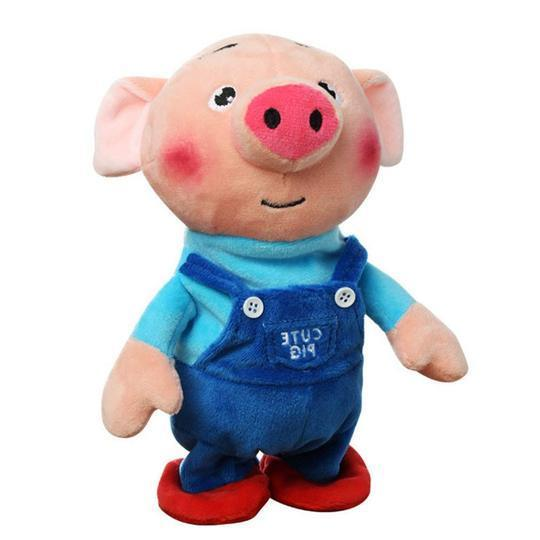 Seaweed Pig Electric Plush Toy, Singing and Dancing Recording Pig Children's Puzzle Early Education Doll