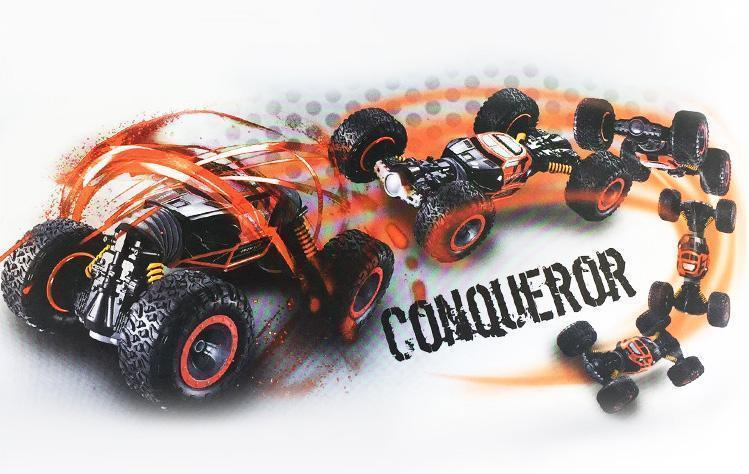 Hot sale!!!!!-Wireless deformation anti-fall four-wheel drive remote-control car toys