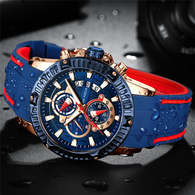 Men's Business Watch, Fashion Watch Chronograph Casual Quartz Wristwatch for Family Gift