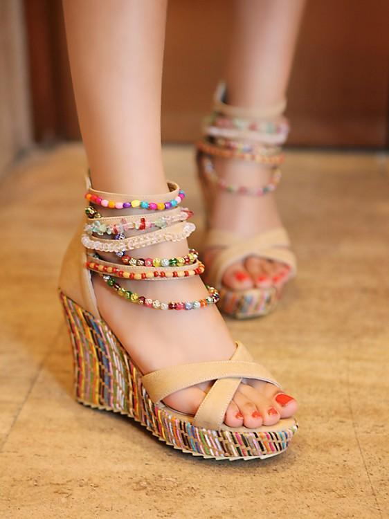 bd3321046b1b05 ... Cool Gadgets New 2018 Summer Fashion Woman Sandals Shoes Bohemian  Sandals Comfortable Sweet Wedge Heels Shoes ...