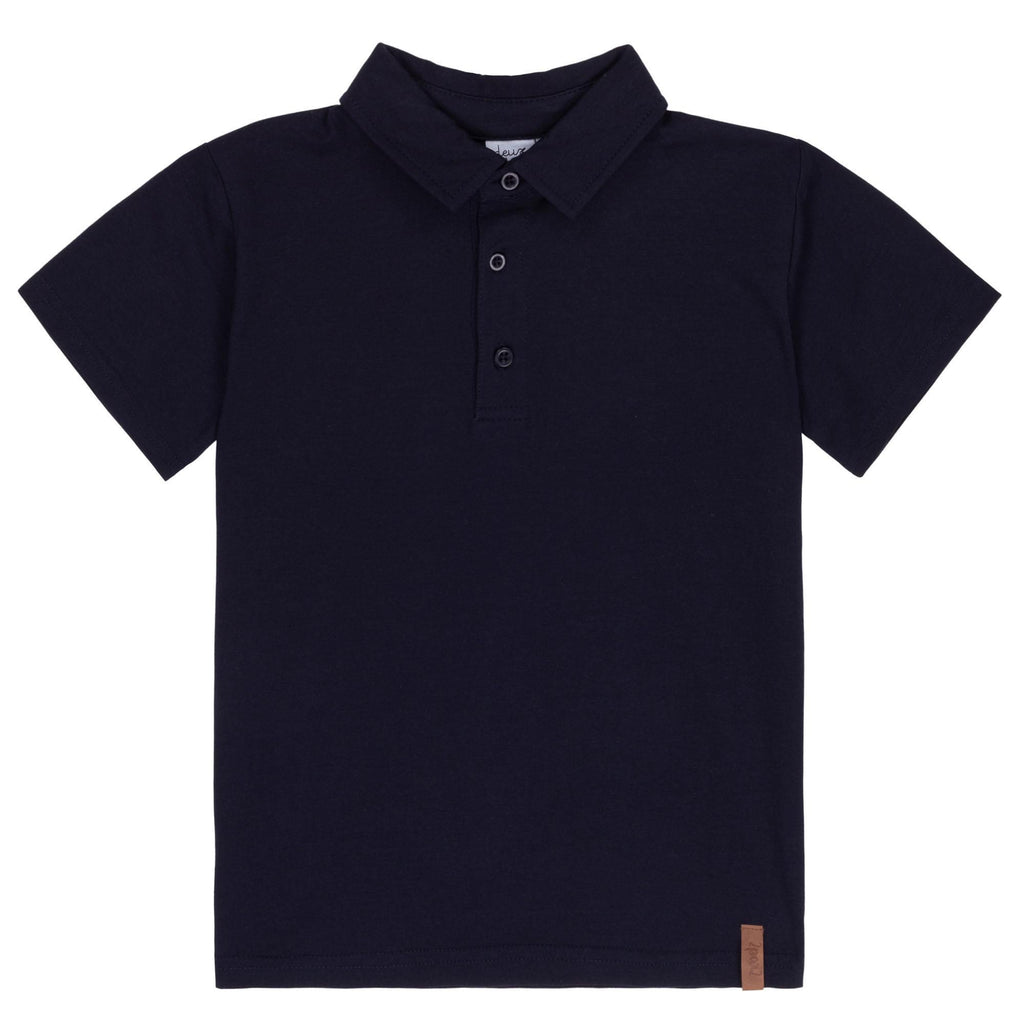 Deux Par Deux Boys Chic Navy Polo